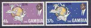 Gambia 1974 Centenary of UPU set of 2 unmounted mint, SG 318-19
