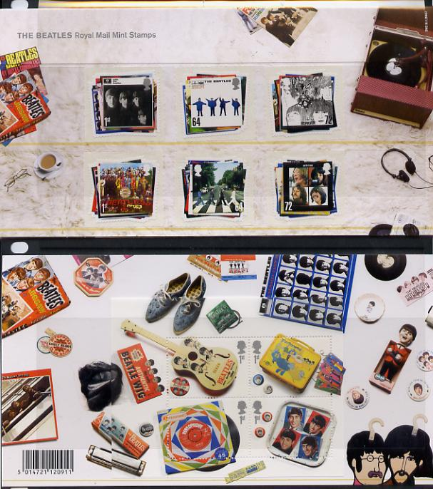 Great Britain 2007 The Beatles self adhesive set of 6 in official presentation pack unmounted mint SG 2686-91