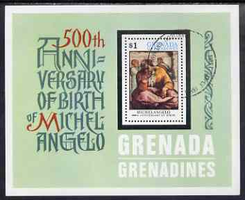 Grenada - Grenadines 1975 Michelangelo m/sheet (Jeremiah) cto used, SG MS75