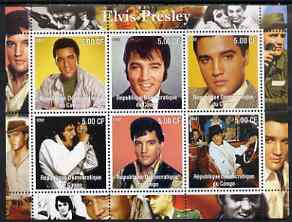 Congo 2002 Elvis Presley perf sheetlet #2 containing set of 6 values unmounted mint
