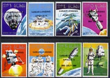 Oman 1969 Progress in Space perf set of 8 opt'd with 'Lunar Landing Apollo 11' (slight off-set) unmounted mint