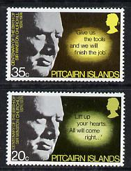 Pitcairn Islands 1974 Churchill Birth Centenary set of 2 (SG 155-56) unmounted mint