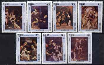 Kampuchea 1984 450th Death Anniversary of Correggio (artist) perf set of 7 unmounted mint, SG 578-84