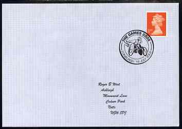 Postmark - Great Britain 2002 cover with Games 2002, Edinburgh cancel illustrated with Disabled Wheelchair Athlete