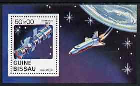 Guinea - Bissau 1983 Cosmonautics Day (Shuttle & Satellite) perf m/sheet unmounted mint