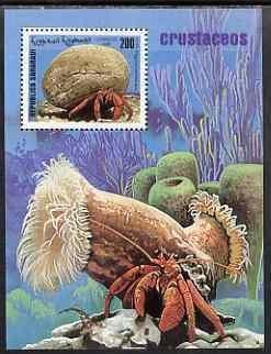 Sahara Republic 1999 Crabs perf m/sheet unmounted mint