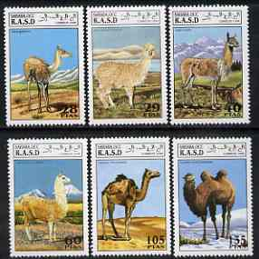 Sahara Republic 1994 Camels complete perf set of 6 values unmounted mint