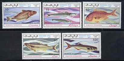 Sahara Republic 1991 Fish complete perf set of 5 values unmounted mint
