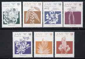 Sahara Republic 1992 Flowers, the 7 values from def set unmounted mint