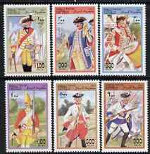 Somalia 1997 Military Uniforms perf set of 6 values unmounted mint