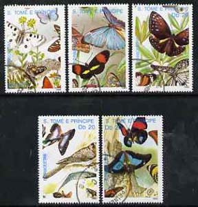 St Thomas & Prince Islands 1989 Butterflies perf set of 5 very fine cto used
