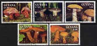 Guyana 1991 Fungi perf set of 5 very fine cto used, Sc 2463-67
