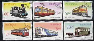 Philippines 1984 Rail Transport perf set of 6 very fine cto used, SG 1861-66