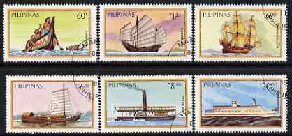 Philippines 1984 Water Transport perf set of 6 very fine cto used, SG 1850-55