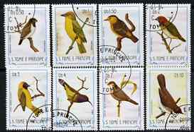 St Thomas & Prince Islands 1983 Birds short set of 8 vals cto used (ex def set)