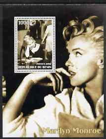 Benin 2002 Marilyn Monroe #2 perf s/sheet containing single value unmounted mint