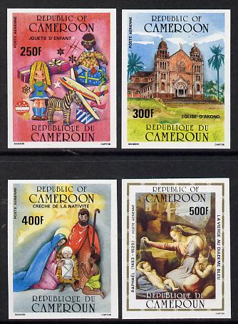 Cameroun 1985 Christmas set of 4 imperf from limited printing unmounted mint, as SG 1064-67