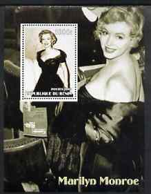 Benin 2002 Marilyn Monroe #3 perf s/sheet containing single value unmounted mint