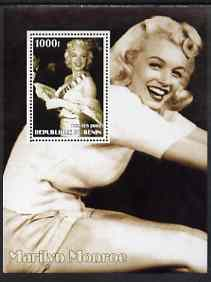 Benin 2002 Marilyn Monroe #4 perf s/sheet containing single value unmounted mint