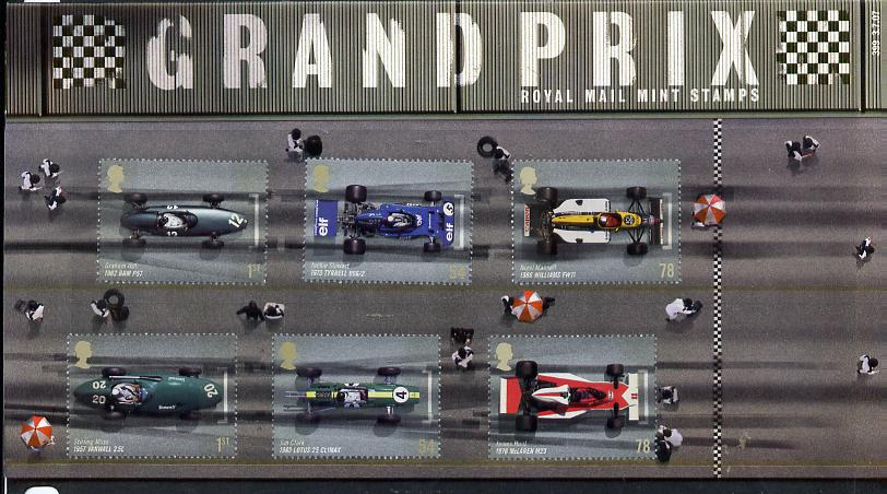 Great Britain 2007 Grand Prix perf set of 6 in official presentation pack unmounted mint SG 2744-49