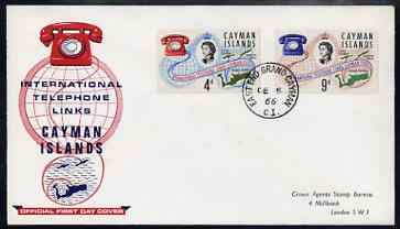 Cayman Islands 1966 International Telephone Links set of 2 on illustrated cover with first day cancel