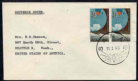 South Africa cover with SANAE illustrated postmark showing a Penguin