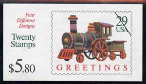 Booklet - United States 1992 Christmas $5.80 booklet complete and pristine, SG SB 168