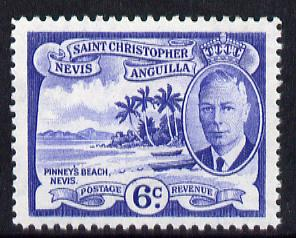 St Kitts-Nevis 1952 KG6 Pinney's Beach 6c from Pictorial def set unmounted mint SG 99