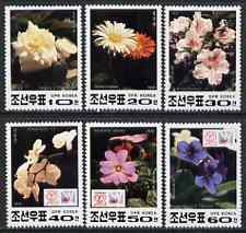 North Korea 1991 Flowers complete perf set of 6 values unmounted mint, SG N3094-99