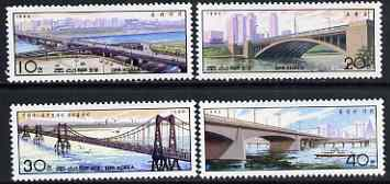 North Korea 1990 Bridges perf set of 4 unmounted mint, SG N2939-42*