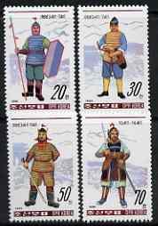 North Korea 1990 Warriors' Costumes perf set of 4 unmounted mint, SG N2943-46*