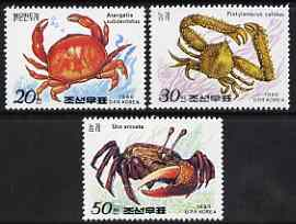 North Korea 1990 Crabs perf set of 3 unmounted mint, SG N2947-49*
