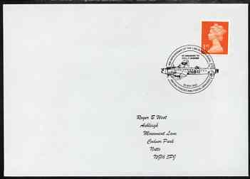 Postmark - Great Britain 2002 cover for Anniversary of 1,000th Bombing raid (F/O Manser VC) illustrated with Bomber