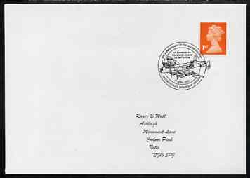 Postmark - Great Britain 2002 cover for Anniversary of Augsburg raid (S/Ldr Nettleton VC) illustrated with Bomber