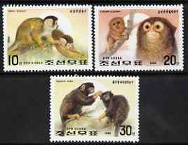 North Korea 1992 Monkeys perf set of 3 unmounted mint, SG N3108-10