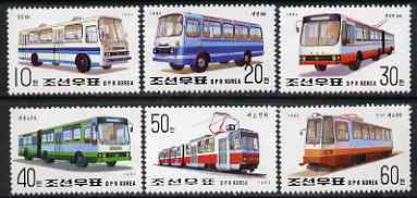 North Korea 1992 Transport complete perf set of 6 unmounted mint, SG N3123-28