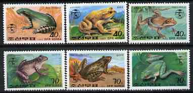 North Korea 1992 Frogs & Toads complete perf set of 6 unmounted mint, SG N3194-99