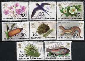 North Korea 1992 World Environment Day complete set of 8 values unmounted mint, SG N3200-07*