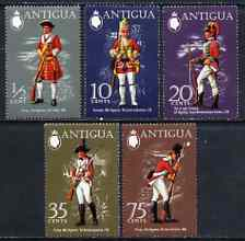 Antigua 1971 Military Uniforms (2nd series) set of 5 unmounted mint, SG 303-307