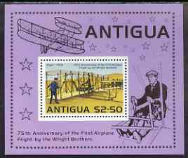 Antigua 1978 75th Anniversary of Powered Flight perf m/sheet unmounted mint, SG MS575