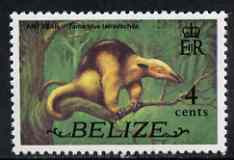 Belize 1974 Anteater 4c (from def set) unmounted mint SG 366