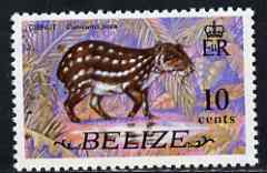 Belize 1974 Paca (Gibnut) 10c (from def set) unmounted mint SG 368