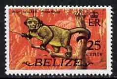 Belize 1974 Kinkajou 25c (from def set) unmounted mint SG 370