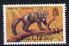 Belize 1974 Tayra (Bush Dog) $1 (from def set) unmounted mint SG 372