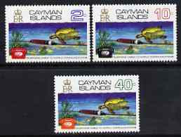 Cayman Islands 1972 Co-Axial Telephone Cable set of 3 unmounted mint, SG 309-11