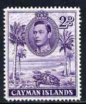 Cayman Islands 1938-48 KG6 Hawksbill Turtles KG6 2d P14 unmounted mint, SG 119a