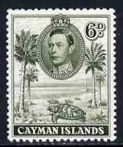 Cayman Islands 1938-48 KG6 Hawksbill Turtles KG6 6d olive-green P11.5x13 unmounted mint, SG 122