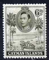 Cayman Islands 1938-48 KG6 Hawksbill Turtles KG6 6d brownish olive P11.5x13 unmounted mint, SG 122b