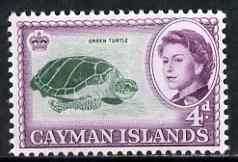 Cayman Islands 1962-64 Green Turtles 4d unmounted mint, SG 171