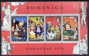 Dominica 1970 Christmas & Charles Dickens Death Centenary perf m/sheet unmounted mint, SG MS316